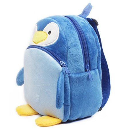 Kaden G-P New top qualtiy baby school bags children character design backpack girls and boys lovely plush toy school bags /Little Kid cute Pack Backpack cartoon pupil school bags (23x21cm, Penguin Green)