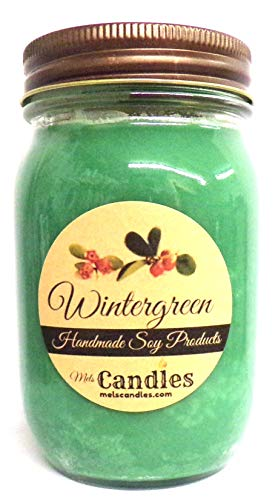 Wintergreen 16oz Country Jar Soy Candle - Handmade in Rolla MO