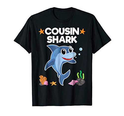 Cousin Shark Shirt Sister Brother Baby Shark Birthday Gift -