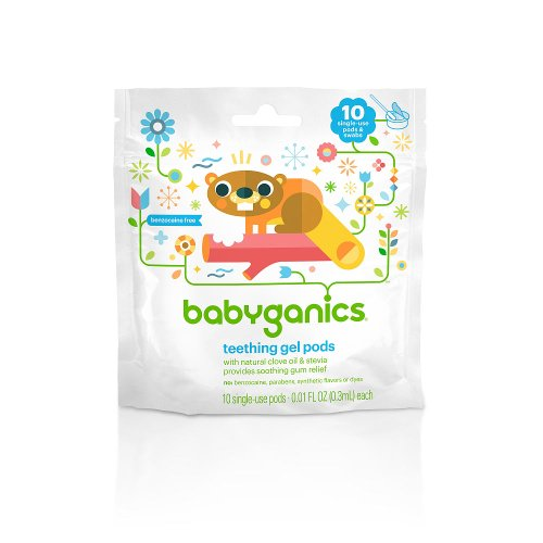 BabyGanics Teething Gel Pods 10-Count