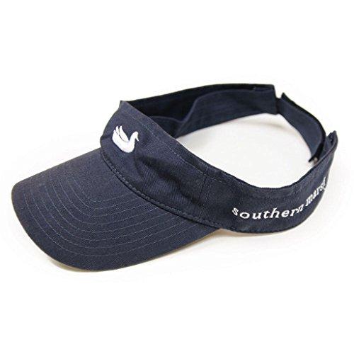 (Southern Marsh Men's Logo Visor, Navy/White, One Size)