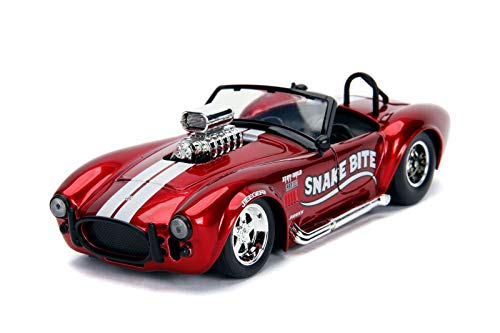 Jada 1965 Shelby Cobra 427 S/C Candy Red with White Stripes Snake Bite Bigtime Muscle Series 1/24 Die-cast Model Car 30705 (Bigtime Muscle Cars)