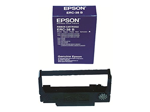 Epson ERC-38B-CASE Black Ink Ribbon for use in TM-U220, TM-U210, TM-U230, TM-U325, TM-U375, TM-U300, TM-U200 (Pack of 10)