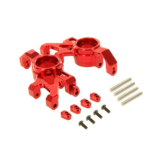 Atomik RC Alloy Steering Block, Red fits the Traxxas X-Maxx - Replaces Traxxas Part 7737