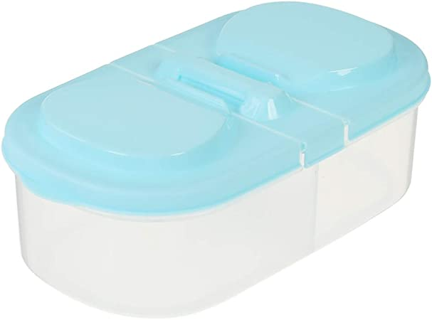 ZATCWHSNH Caja de Almacenamiento Doble Caja de merienda de Fruta Fresca contenedor de Cocina Caja de Comida de plástico colección de contenedores domésticos crujientes: Amazon.es: Hogar