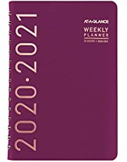 """Academic Planner 2020-2021, AT-A-GLANCE Weekly & Monthly Planner, 5"""" x 8"""", Small, Contempo, Wine (70101X59)"""