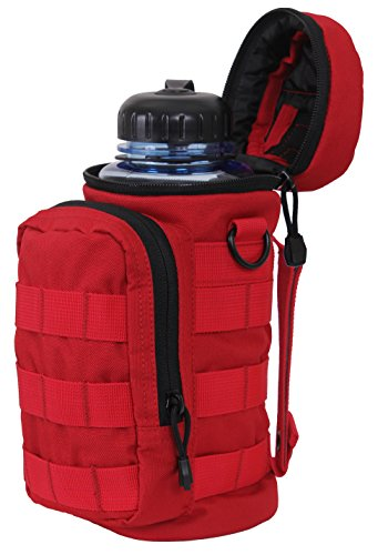 (Rothco MOLLE Compatible Water Bottle Pouch, Red)