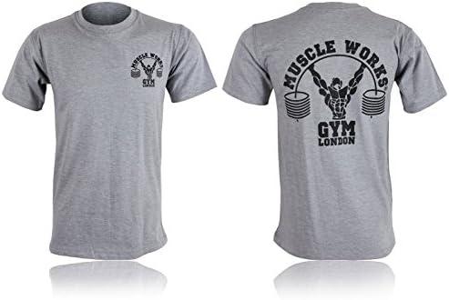 MUSCLE WORKS Músculo Funciona Gimnasio Camiseta Entrenamiento ...