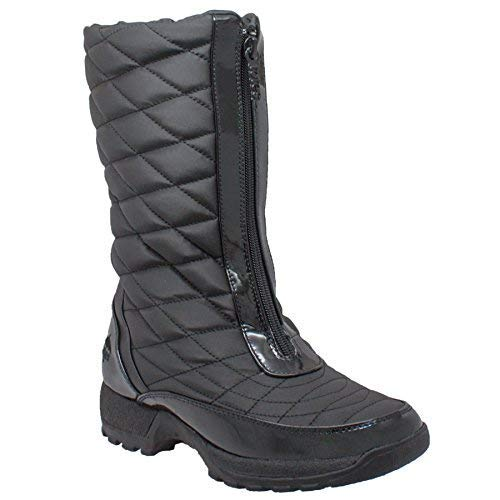 totes Women's Diamond Winter Boots,Black,8 W US (Totes Womens Winter Boots Size 8)
