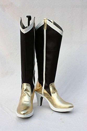 Puella Magi Madoka Magica Mami Tomoe Cosplay Schoenen Laarzen Op Maat Gemaakt Gouden