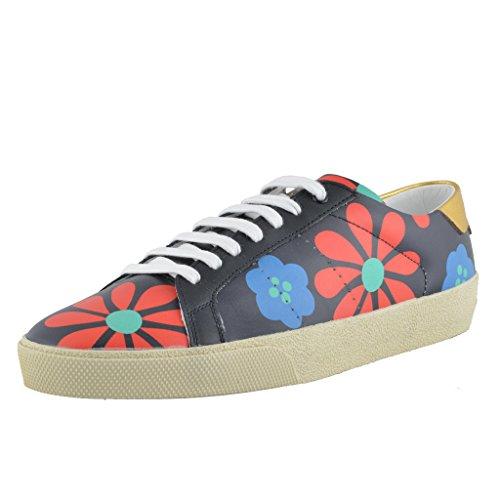 Saint-Laurent-Leather-Fashion-Sneakers-Shoes