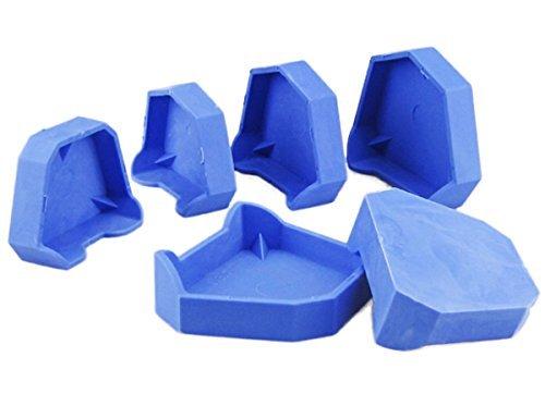 Base Model 6 pcs/Set Dental Lab Model Former Base Molds with Notches (Dental Base Former Cast)