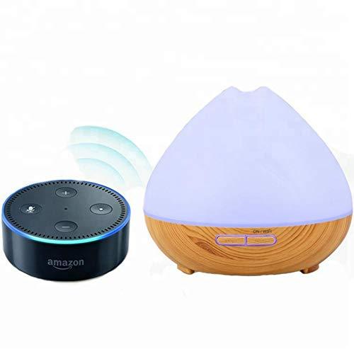 Essential Oil Alexa Assistant/APP Smart Essential Oil Diffuser /400ml Wood Grain ultrasonic Cool Mist air