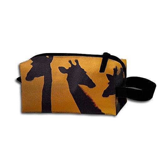 Travel Bag Giraffes Dawn Park Toiletry Bag Clash Durable Zipper Wallet Makeup Handbag With Wrist Band