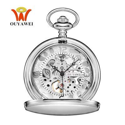 7df816f1b Image Unavailable. Image not available for. Color: Top Oyw Stainless Steel  Case Chain Analog Watch Men Relogio Masculino Male Clock Man Mechanical Hand