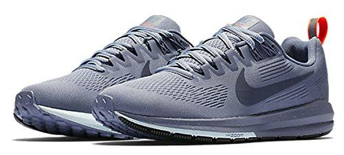 Nike Kvinnor Luft Zoomkonstruktion 21 Sköld Löparsko Mörkt Himmelsblå / Åska Blå-åska Blå 11,0
