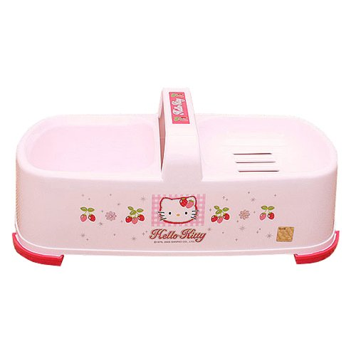 [Hello Kitty (A-14) Soap dishes case melting soap clean washstand sink] (Hello Kitty Soap Dish)