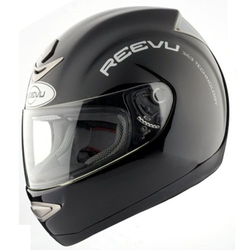 Reevu MSX1 Rear-View Motorcycle Helmet - Black Gloss - M