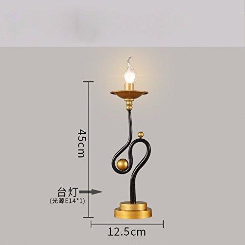 HYW Tischlampe-American Retro-Lampen Wohnzimmer Licht neo-klassischen Schlafzimmer Bett Lampen kreative Persönlichkeit Leuchter