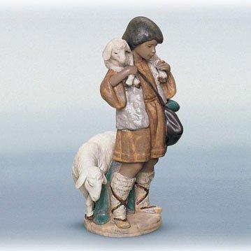 Lladro Shepherd Boy Porcelain Figurine