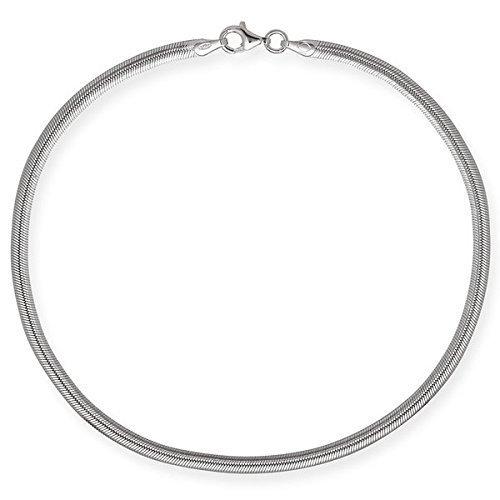 Jewelryweb Italian 925 Sterling Silver 10-Inch 3.5mm Herringbone Anklet - - Anklet Herringbone