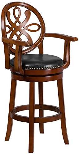 Flash Furniture 30'' High Brandy Wood Barstool