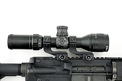 Monstrum Tactical Offset Reversible Scope Ring Set, 1 inch diameter