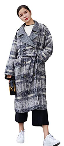 Grau Cintura Anteriori Baggy Invernali Manica Bavero 88 Inclusa Estilo Outerwear Bobo Donna Tasche Lunga Giubotto Giacca Vento Trench Reticolo Especial TznHXqv