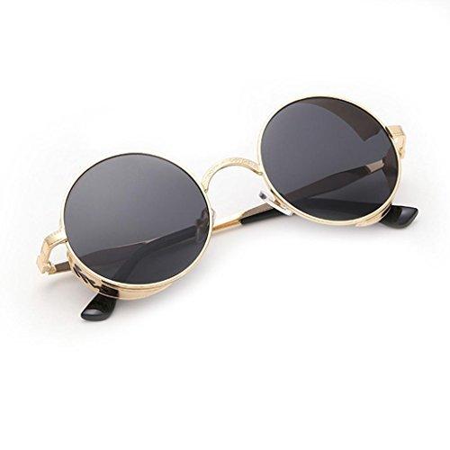 Mujeres de aviador verano Gradiente Vintage de Winwintom F Color gafas ronda Hombres Moda Unisex sol viajes de color 2018 Gafas PxWfxnF5