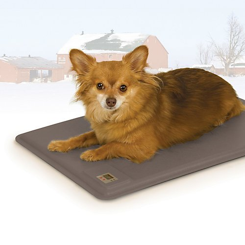 K&H Pet Products Deluxe Lectro-Kennel Heated Pad Large Gray 22.5'' x 28.5'' 80W