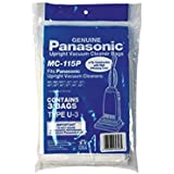 2 X Panasonic MC-115P Type U3 Vacuum Bags, 3-Pack
