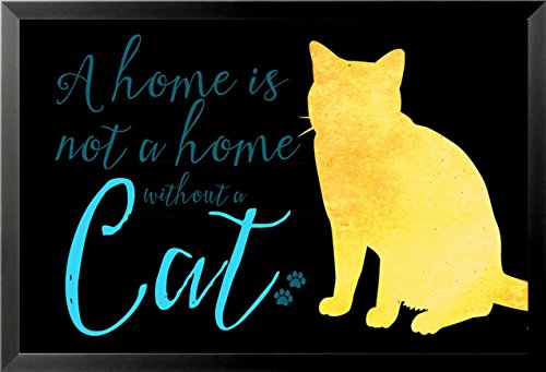 FRAMED Cat Home V by Brandi Fitzgerald 36x24 Art Print Poste