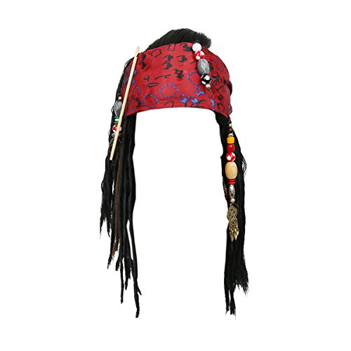 Pirates Wigs Bandana Dreadlock DLX Jack Sparrow Halloween Costume ()