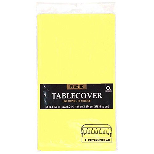 Amscan Easter Yellow Plastic Table Cover   Party Tableware -