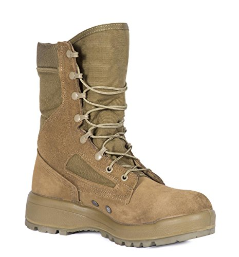 Belleville Men's USMC Hot Weather Combat Green Olive Leather Boots, Coyote, 11.0R