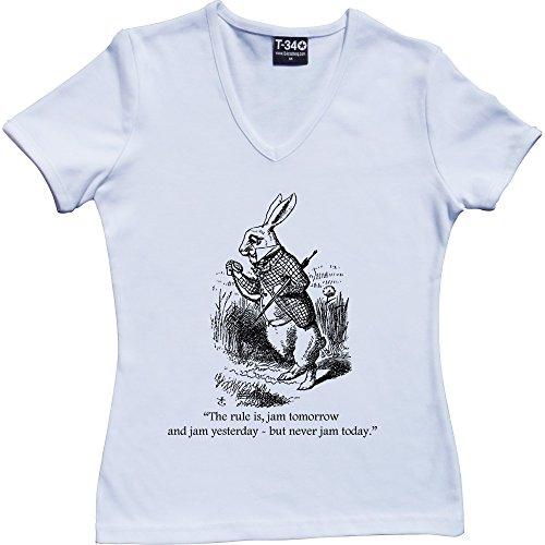 T34 - Camiseta V-Neck White Women's T-Shirt