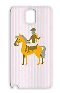 Tearproof Horse TPU Animals Nature Horses Orange Cover Case For Sumsang Galaxy Note 3