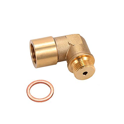 (A7818F Oxygen Sensor Extender 90 Degree Angled Bung Extension Spacer M18x1.5 Fix Oxygen Spacer Exhaust Extension)