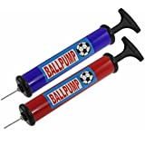 Black Plastic Handle Red or Blue Air Pump Inflator for Basketball Football by USA CASH AND CARRY - PrimeTrendz TM