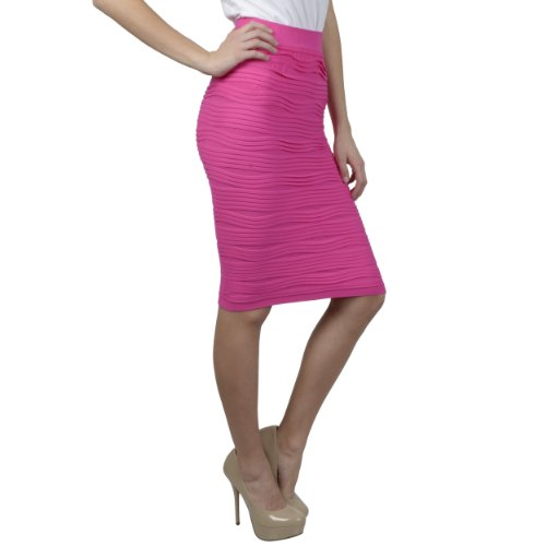 Brinley Co. Juniors Stretchy Pleated Pencil Skirt
