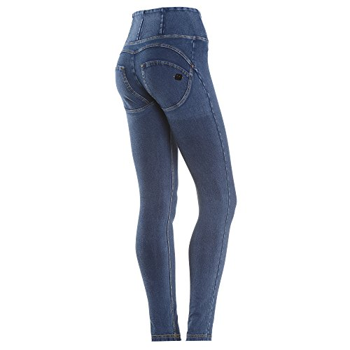 Freddy Donna Pantalone Lungo WR.UP Shaping Effect Skinny WRUP1HJ3E J0Y Scuro-Cuciture Gialle (M)