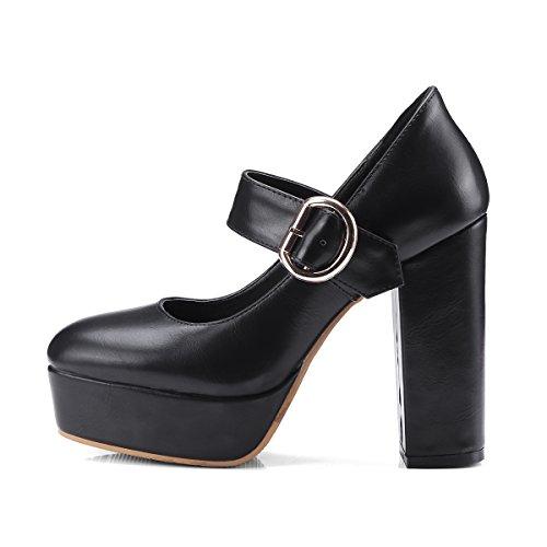 caviglia con Scarpe cinturino Nero Donna alla YE gwIUd4qw