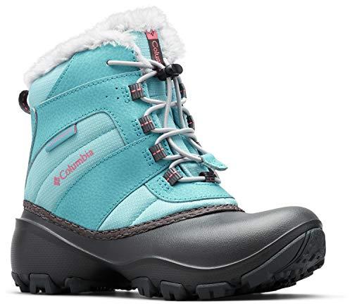 - Columbia Girls' Childrens Rope Tow III Waterproof Snow Boot, Iceberg, Camellia Rose, 12 Regular US Little Kid