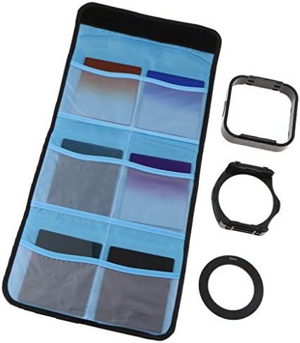 10点セット カメラレンズ NDフィルターキット カラーフィルター 4色セット フード バッグ付き - 62mm