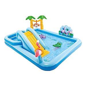 Intex 57161 Adventure Play Center - Giungla, Gonfiabile 257 x 216 x 84 cm, Azzurro (Multicolore) 2 spesavip
