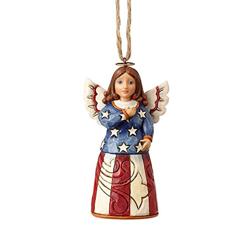 Enesco Jim Shore Heartwood Creek Mini Patriotic Angel Ornament