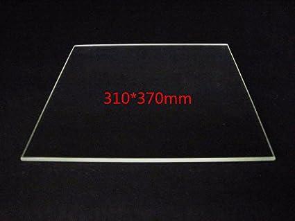 WillBest - Plato de cristal de borosilicato de 310 mm x 370 mm ...