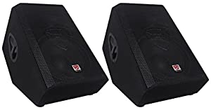 "(2) Rockville RSM15A 15"" 2-Way Powered Active Floor Monitor Speakers 2800 Watts by Rockville"
