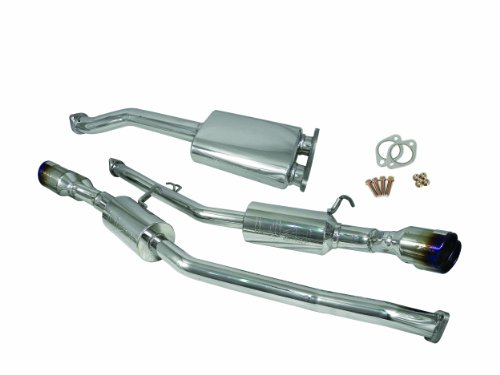 Injen Technology SES1386TT Cat-Back Exhaust System with 76mm Y-Pipe Resonator/Molded Flange