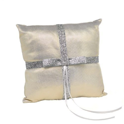 Gold Ring Bearer Pillow - Hortense B Hewitt Metallic Sparkle Ring Pillow